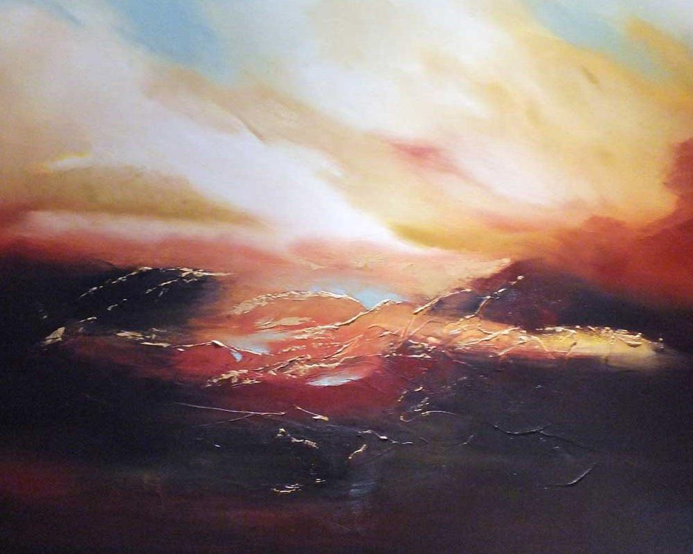 A Set of the Sun Oil on Canvas Painting by Elizabeth Williams front