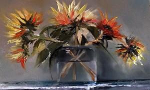 Chrysanthemums in Jar