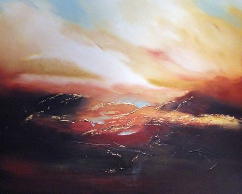 A Set of the Sun | Oil on Canvas Painting by Elizabeth Williams