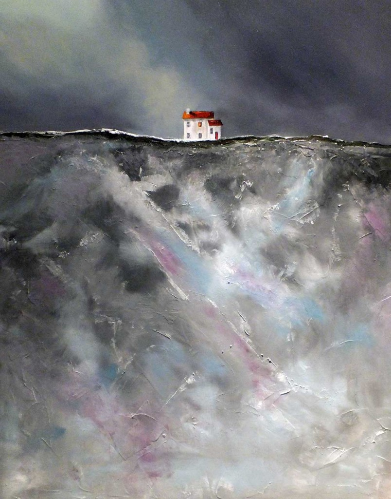 Jurassic Coast Cliff Oil Painting - God Speed My Lovely