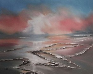 Shephed's Warning - Oil Seascape painting