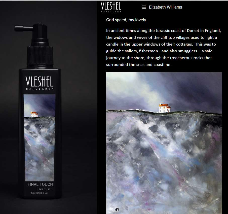 Vleshel Final Touch Product Image features God Speed My Lovely painting by Elizabeth Williams