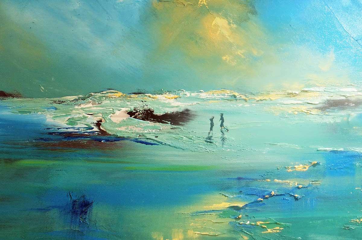 Time And Tide | Seascape Detail | Artist Elizabeth Williams