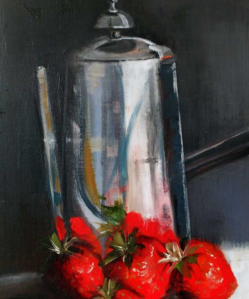 Coffee Jug and Fruit by Elizabeth Williams