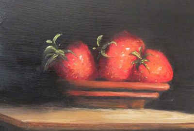Just Strawberries - Oil Painting by Elizabeth Williams