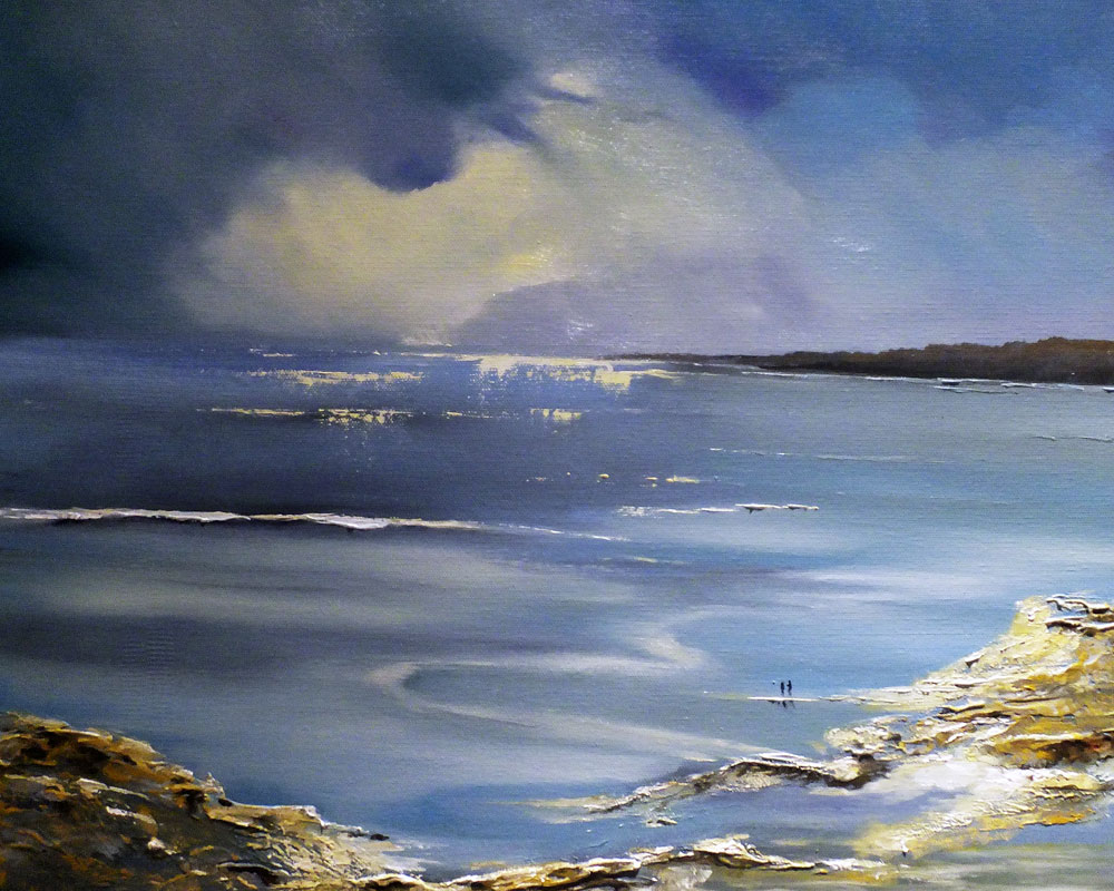 Clearing Skies - Oil on canvas seascape by Elizabeth Williams