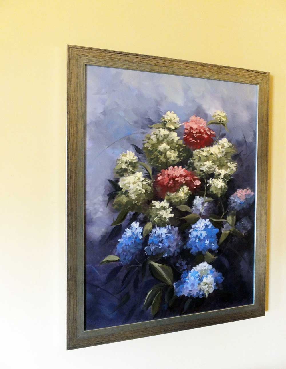 Hydrangeas in situ framed