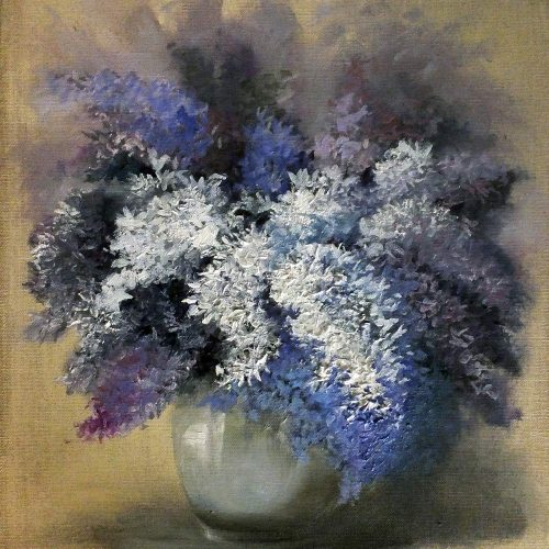 A still life studio study of these lovely fresh lilac flowers