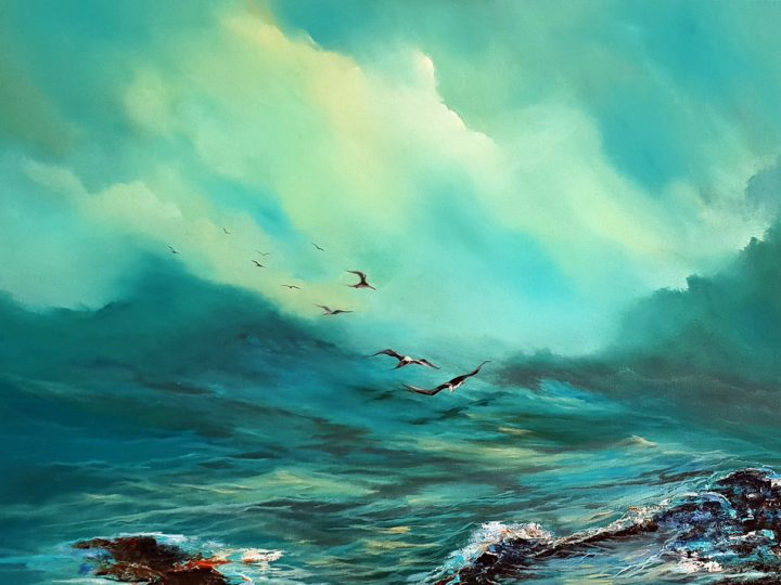 Dance me to the waves Oil Painting by Elizabeth Williams