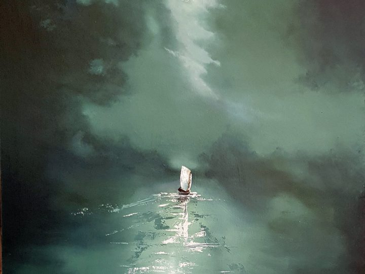 I drift to you Oil Painting by Elizabeth Williams