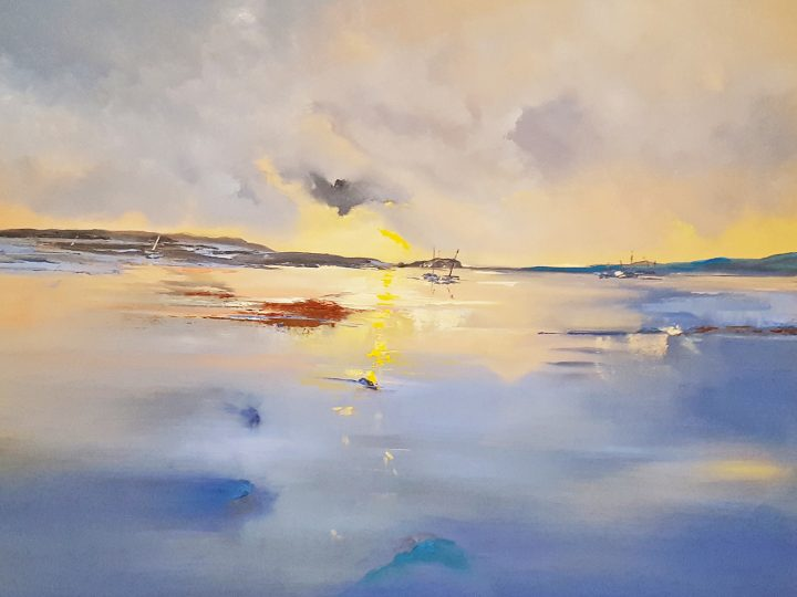Low Tide at Sunset Oil Painting by Elizabeth Williams